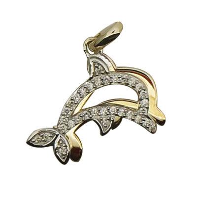 Womens 1/10 CT. T.W. Genuine White Diamond 10K Gold Over Silver Pendant Necklace