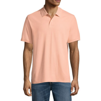 St. John's Bay Short Sleeve Slim Fit Easy Care Quick Dry Pique Polo Shirt