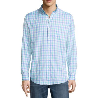 St. John's Bay Long Sleeve Performance Button-Front Shirt