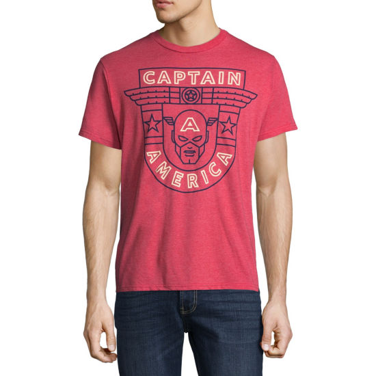 Captain America Line Drawn Graphic Tee