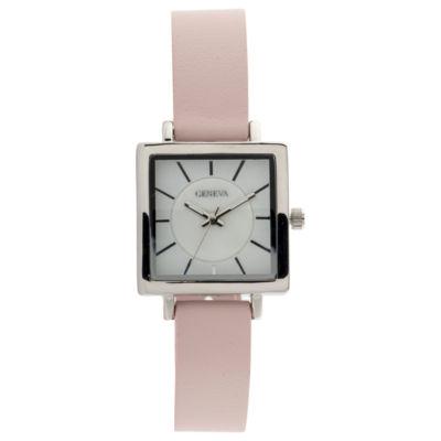 Geneva Womens Pink Strap Watch-Jcp3027st