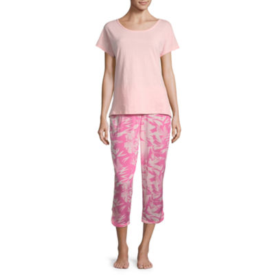 Ambrielle Short Sleeve Capri Pajama Set
