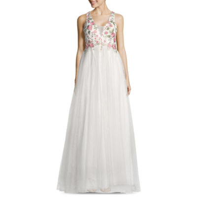 My Michelle Sleeveless Embroidered Ball Gown-Juniors