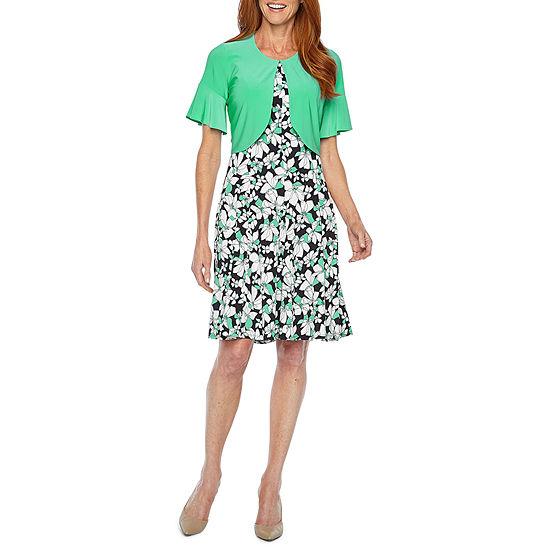 Perceptions Short Bell Sleeve Jacket Dress
