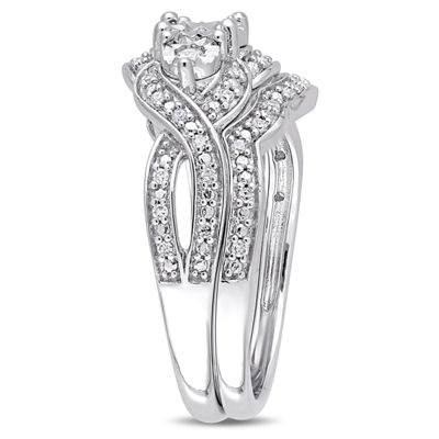 Womens 1/4 CT. T.W. Genuine White Diamond Sterling Silver Bridal Set