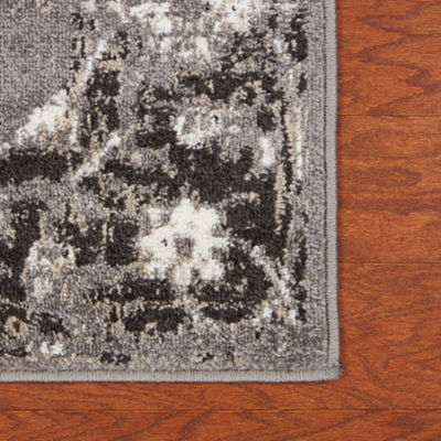 Infinity Geometric Rectangular Rug with Medallion