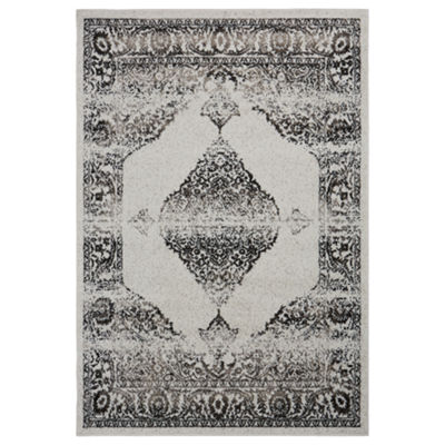 Infinity Modern Damask with Medallion RectangularRug