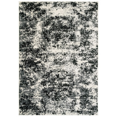 Infinity Modern Distressed Rectangular Rug