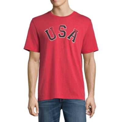 St. John's Bay Short Sleeve Americana Graphic T-Shirt