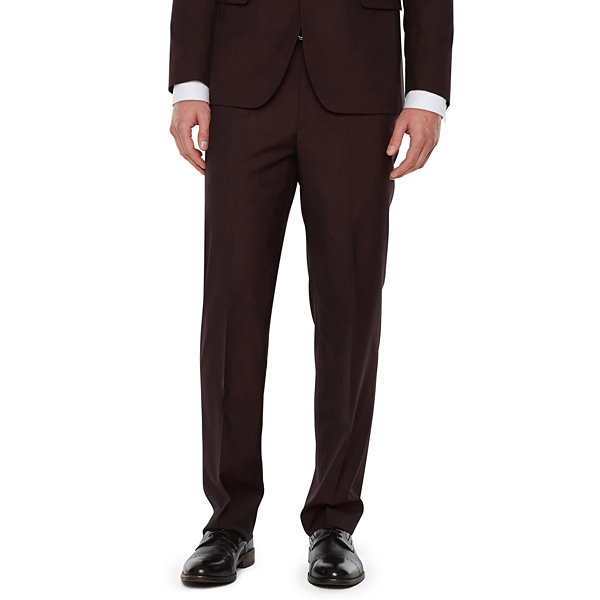 JF J.Ferrar Merlot Pulse Classic Fit Stretch Suit Jacket