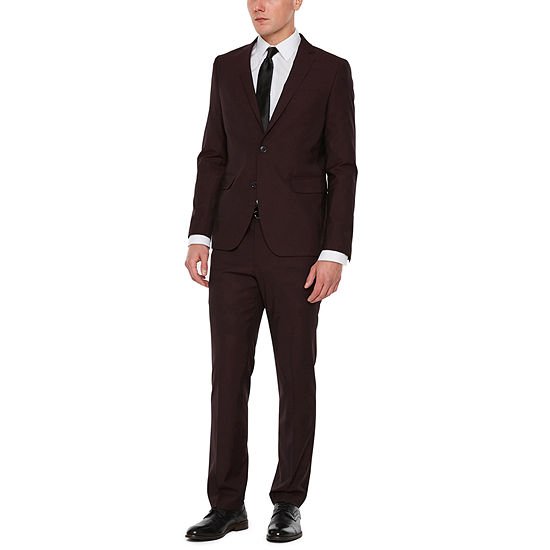 JF J.Ferrar Merlot Super Slim Suit Separates