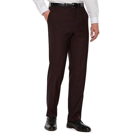 JF J.Ferrar Merlot Pulse Stretch Classic Fit Suit Pants