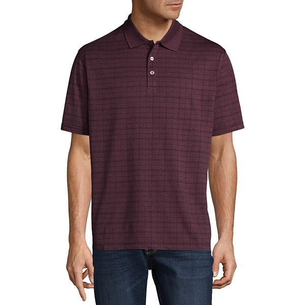 Haggar short sleeve poly polo shirt jcpenney for Jcpenney ladies polo shirts