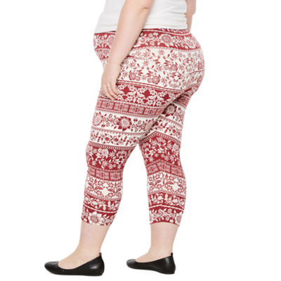 Planet Motherhood Ultra Soft Cropped Leggings - Plus Maternity