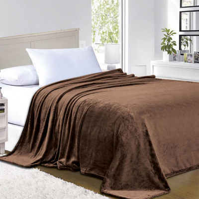Elegant Comfort Luxury Micro-Fleece Ultra Plush Solid Blanket