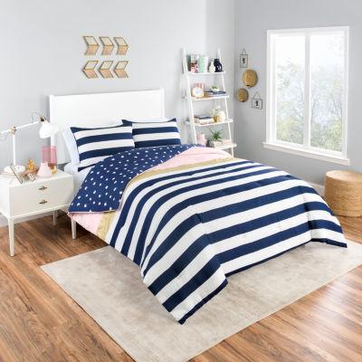 Vue Glam Stripe 3-pc. Comforter Set
