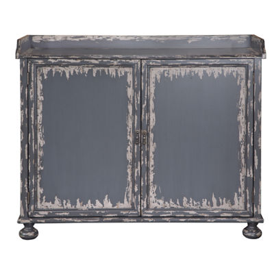 Grey Distressed Bar Cabinet