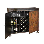 Two Tone Sentiments Wine Cabinet