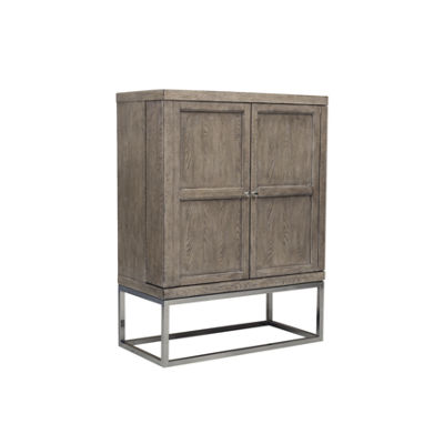 Highland Park Two Door Bar With Adjustable Bottle Rack