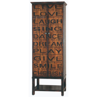 Tall Two Tone Sentiments Wine Cabinet