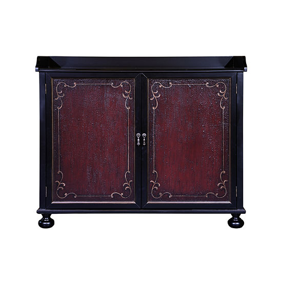 Two Tone Hand Painted Bar Cabinet