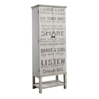 Grandma's Hand Painted Words Of Wisdom Tall Wine Cabinet
