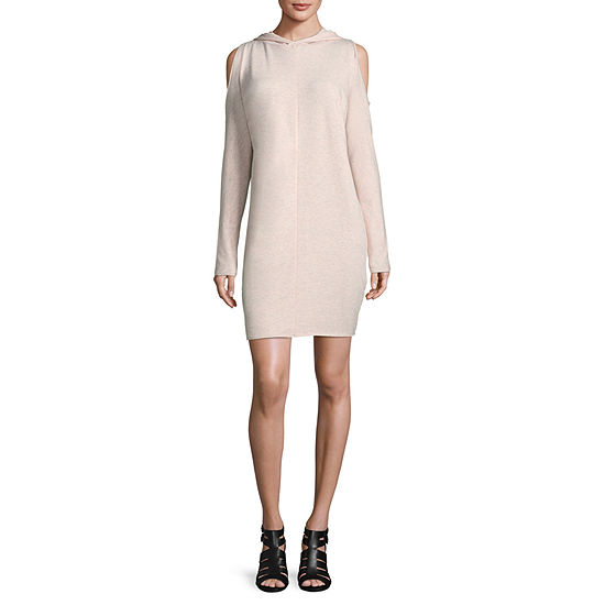 2feb4a25548 Project Runway Long Sleeve Hooded Cold Shoulder Sweatshirt Dress - JCPenney