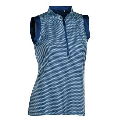 Nancy Lopez Golf Geo Sleeveless Polo