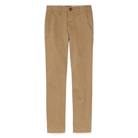 Arizona Little & Big Boys Straight Flat Front Pant