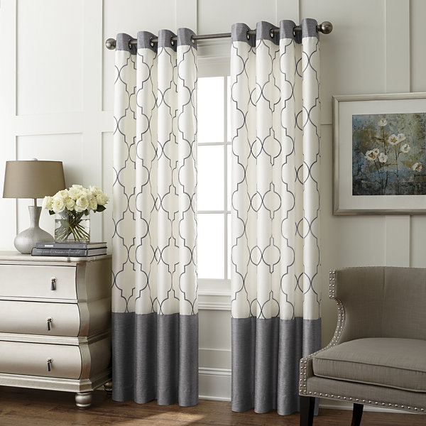 Jcpenney Living Room Curtains. Liz Claiborne Westfield Embroidery Room Darkening Grommet Curtain Panel