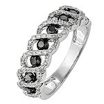 Womens 2.5MM 3/4 CT. T.W. Genuine Multi Color Diamond 14K White Gold Round Wedding Band