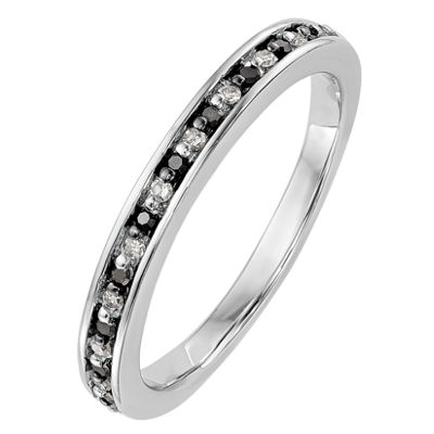 Womens 1/6 CT. T.W. Multi Color Diamond 14K Gold Wedding Band