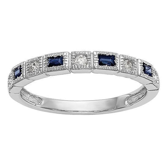 2MM 1/10 CT. T.W. Genuine White Diamond 14K White Gold Round Wedding Band