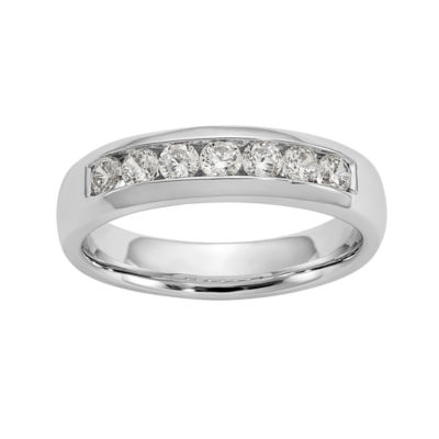 Womens 5mm 1/2 CT. T.W. Genuine White Diamond 14K White Gold Round Wedding Band