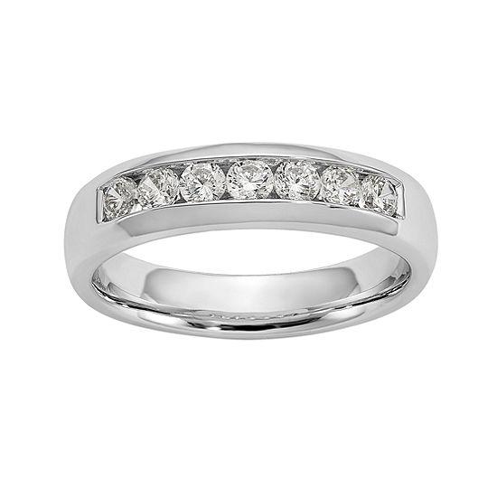 Womens 5mm 1 2 Ct Tw Genuine White Diamond 14k White Gold Round Wedding Band