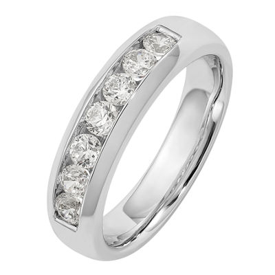 Womens 5mm 5/8 CT. T.W. Genuine White Diamond 14K White Gold Round Wedding Band