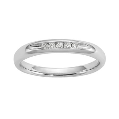 Womens 1/10 CT. T.W. White Diamond 14K Gold Wedding Band