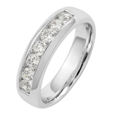 Womens 5mm 3/4 CT. T.W. Genuine White Diamond 14K White Gold Round Wedding Band