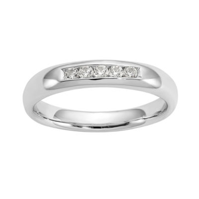 Womens 1/6 CT. T.W. White Diamond 14K Gold Wedding Band
