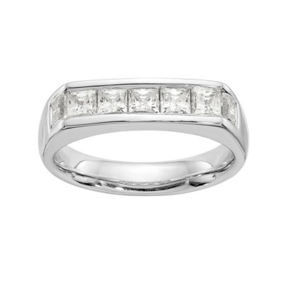 Womens 3mm 7/8 CT. T.W. Genuine White Diamond 14K White Gold Round Wedding Band