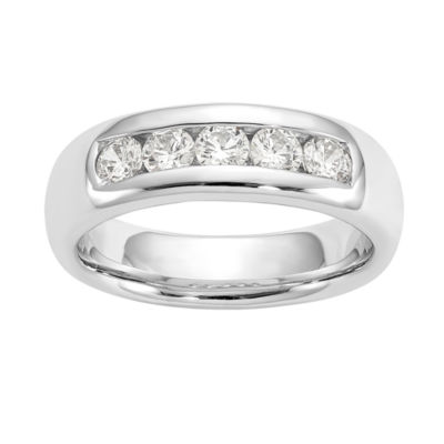 Womens 4.5mm 5/8 CT. T.W. Genuine White Diamond 14K White Gold Round Wedding Band