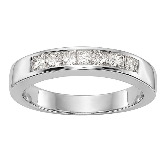 3MM 1/2 CT. T.W. Genuine White Diamond 14K White Gold Round Wedding Band