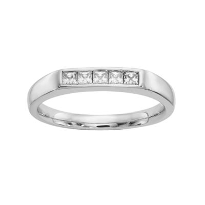 Womens 1/4 CT. T.W. White Diamond 14K Gold Wedding Band