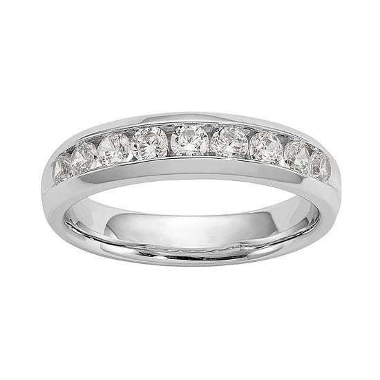 3.5MM 5/8 CT. T.W. Genuine White Diamond 14K White Gold Round Wedding Band