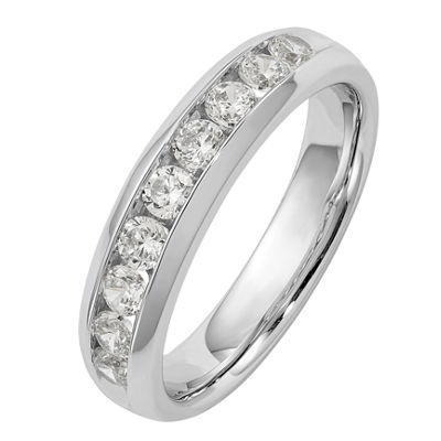 Womens 3.5mm 5/8 CT. T.W. Genuine White Diamond 14K White Gold Round Wedding Band