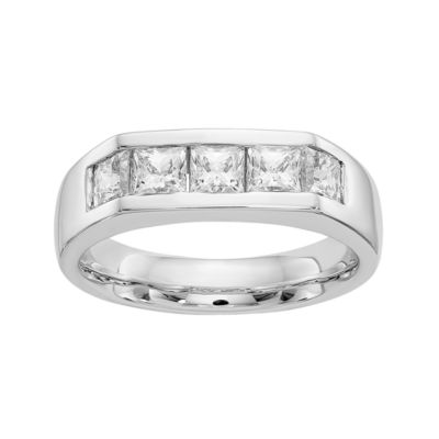 Womens 4mm 1 1/6 CT. T.W.  Genuine White Diamond 14K White Gold Round Wedding Band