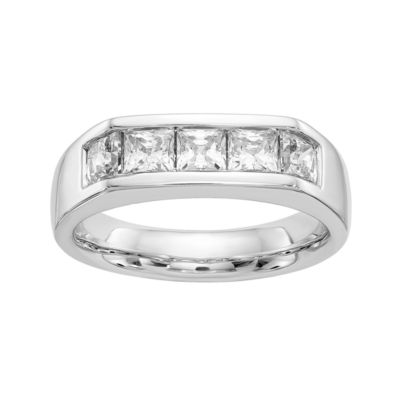 Womens 1 3/8 CT. T.W. White Diamond 14K Gold Wedding Band