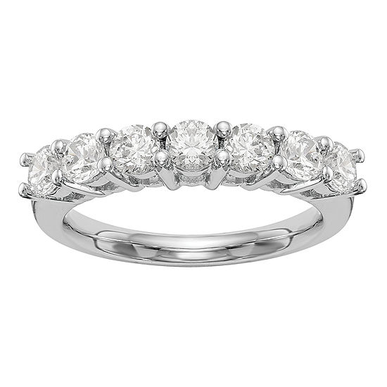 2.5MM 1 CT. T.W. Genuine White Diamond 14K White Gold Round Wedding Band