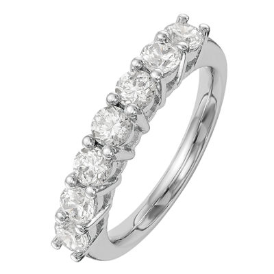 Womens 2.5mm 1 CT. T.W. Genuine White Diamond 14K White Gold Round Wedding Band