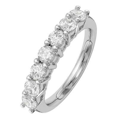 Womens 2.5mm 1 1/5 CT. T.W. Genuine White Diamond 14K White Gold Round Wedding Band
